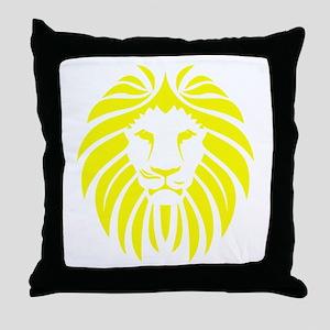 Yellow Lion Mane Throw Pillow