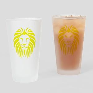 Yellow Lion Mane Drinking Glass