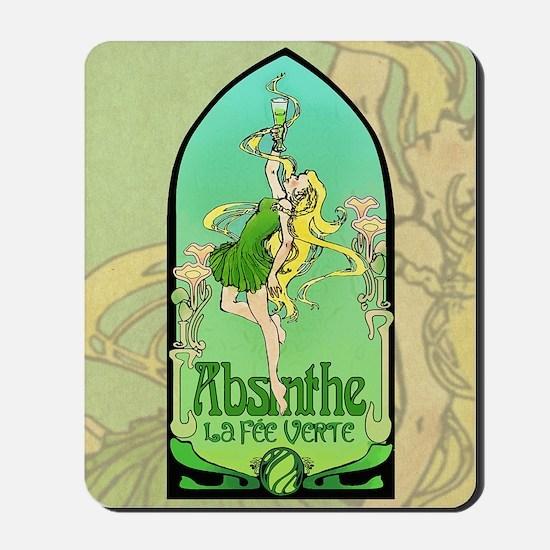 Absinthe Art Nouveau Mousepad