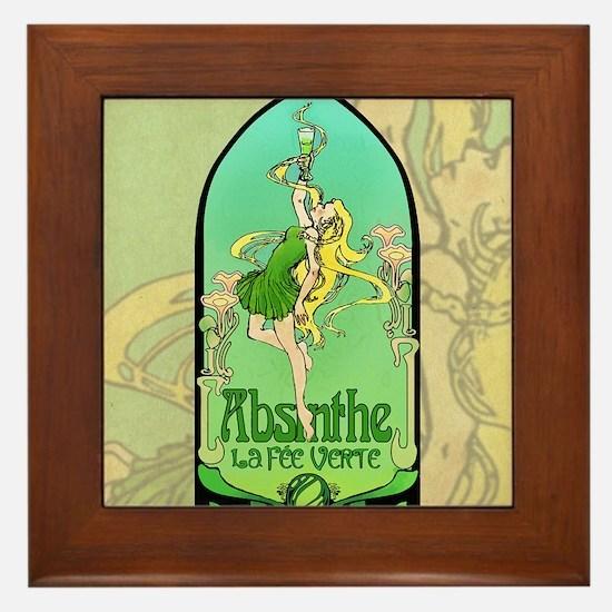 Absinthe Art Nouveau Framed Tile