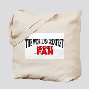 """The World's Greatest Hockey Fan"" Tote Bag"