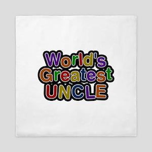 World's Greatest Uncle Queen Duvet