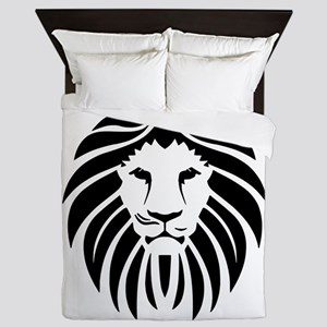 Black Lion Mane Queen Duvet