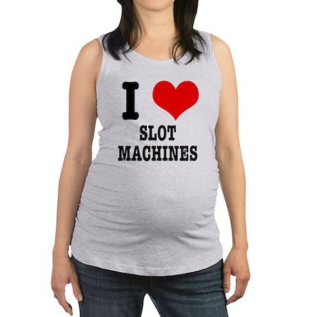 SLOT MACHINES.png Maternity Tank Top