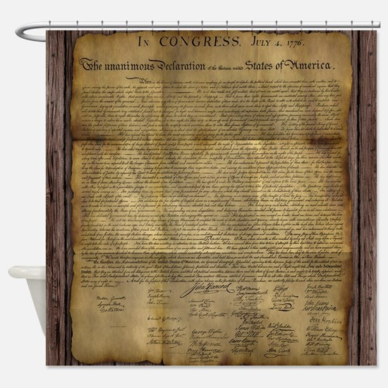Declaration of independence shower curtains cafepress the declaration of independence shower curtain publicscrutiny Image collections