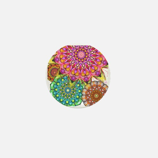 Floral Patten 2 Mini Button