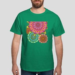 Floral Patten 2 Dark T-Shirt