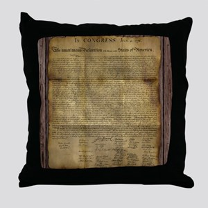 The Declaration of Independence Throw Pillow
