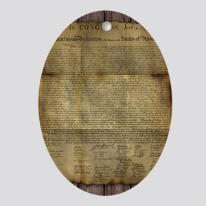 The Declaration of Independence Ornament (Oval)