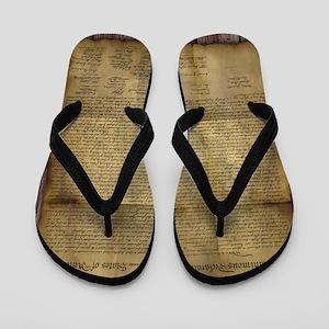 The Declaration of Independence Flip Flops