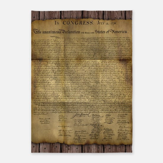 The Declaration of Independence 5'x7'Area Rug