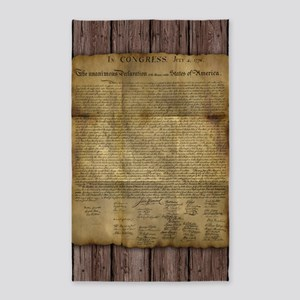 The Declaration of Independence 3'x5' Area Rug