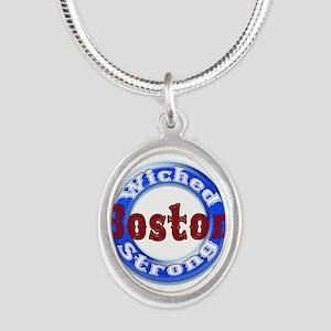 WS Patriots Silver Oval Necklace