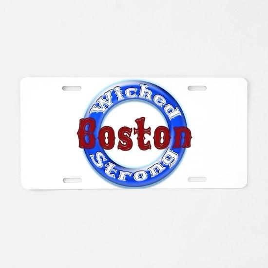 WS Patriots Aluminum License Plate