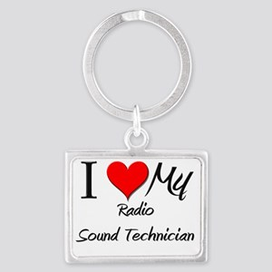 Radio-Sound-Technici9 Landscape Keychain