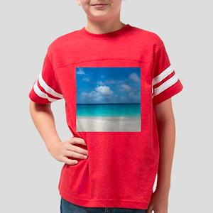 Tropical Beach View Cap Juluc Youth Football Shirt
