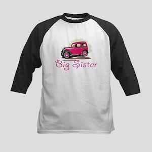 Big Sister Retro Car Kids Baseball Jersey