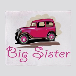 Big Sister Retro Car Throw Blanket
