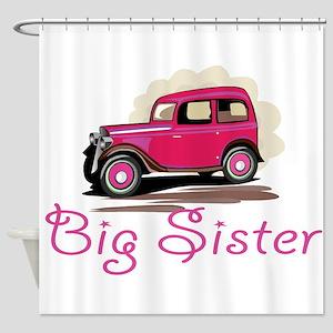 Big Sister Retro Car Shower Curtain