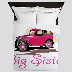 Big Sister Retro Car Queen Duvet