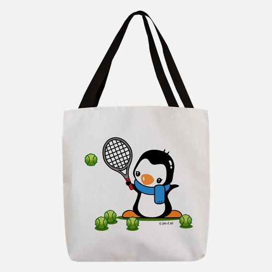 Tennis Penguin (1) Polyester Tote Bag