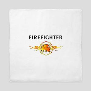 Irish Firefighter Queen Duvet