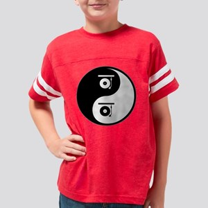 wg359_Records Youth Football Shirt