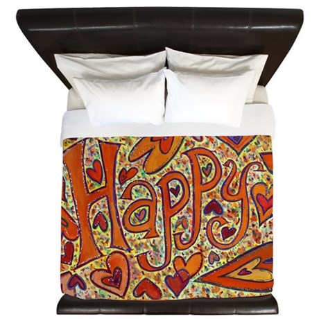 Happy Word - Glitter King Duvet