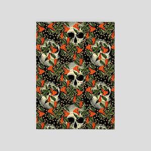 Skulls In The Garden 5'x7'Area Rug