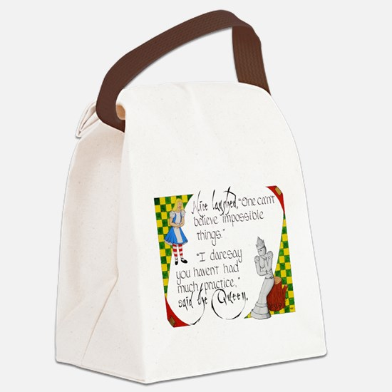Alice and the White Queen Canvas Lunch Bag