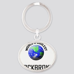 STOCKBROKER90 Oval Keychain