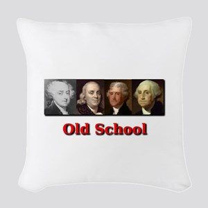 Old School Woven Throw Pillow