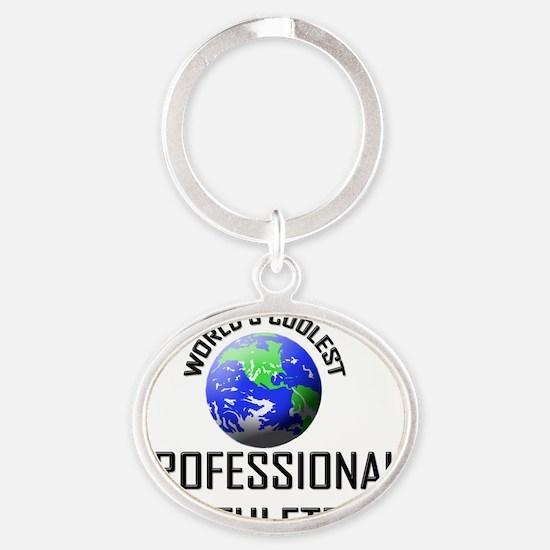 PROFESSIONAL-ATHLETE33 Oval Keychain