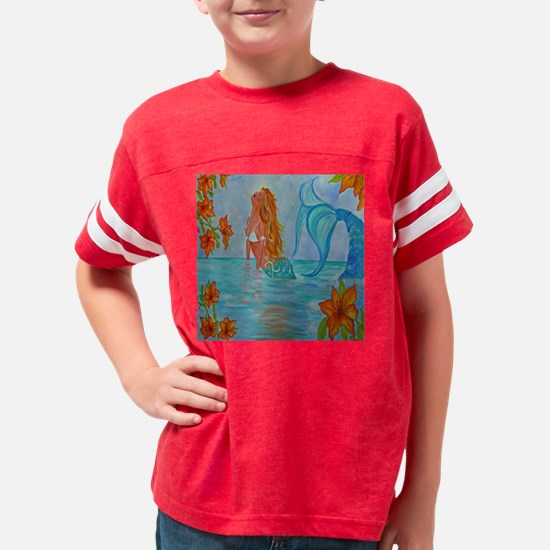 The Wisdom Seeker Mermaid  by Youth Football Shirt