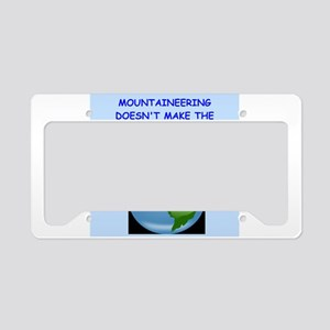 mountaineer License Plate Holder