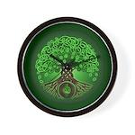 Circle Celtic Tree of Life Wall Clock