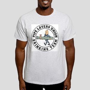 Drinking Team Ash Grey T-Shirt