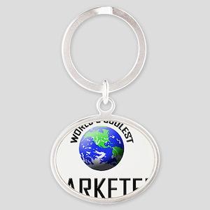 MARKETER78 Oval Keychain