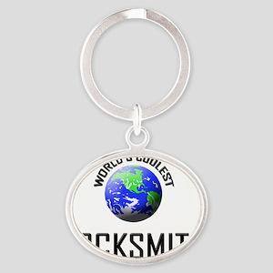 3-LOCKSMITH2 Oval Keychain