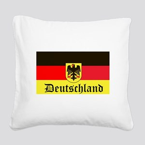 Deutschland Square Canvas Pillow