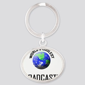 BROADCASTER115 Oval Keychain