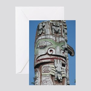 Haida Totem Pole II Greeting Card