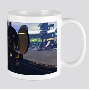 Flying Scotsman with its insides showing, Mug