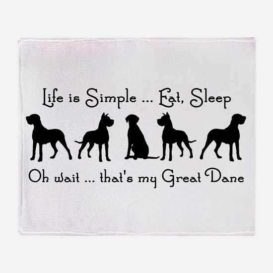 Life is Simple For Great Dane Dog Pet Humorous Thr