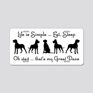 Life is Simple For Great Dane Dog Pet Humorous Alu
