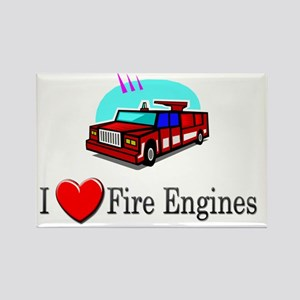 3-fireengine1 Rectangle Magnet