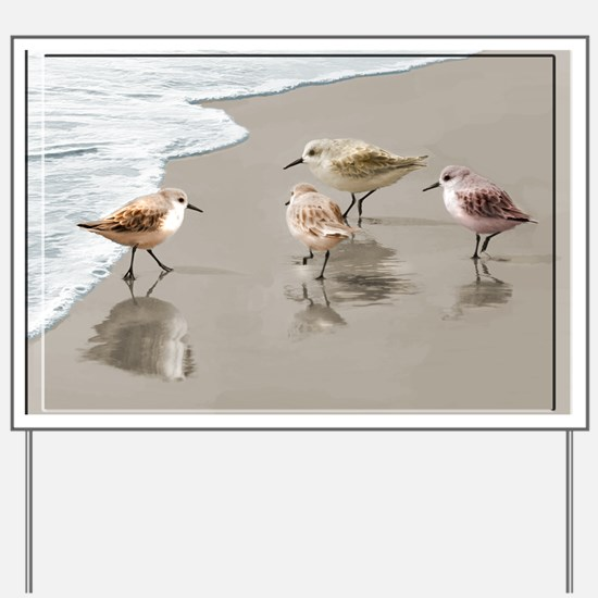 Sandpipers at the Shoreline Yard Sign