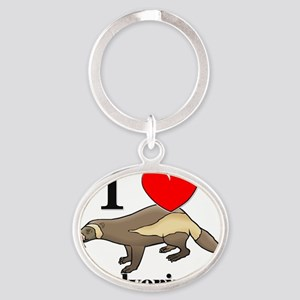 Wolverines102416 Oval Keychain