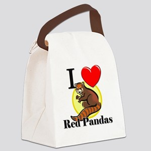 Red-Pandas63321 Canvas Lunch Bag