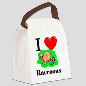 Raccoons101315 Canvas Lunch Bag